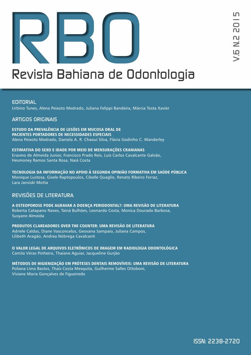 Capa RBO v. 6, n. 2 (2015)